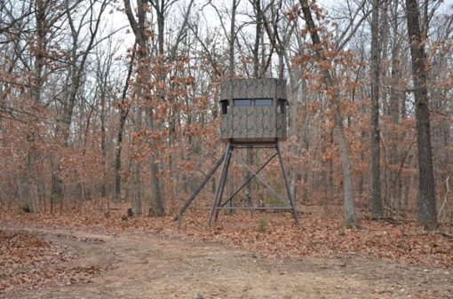 Insulated Deer Blind In Fall Foliage