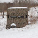 Deer Blind Trailer In Snow