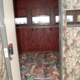 Insulated Deer Blind Interior Detail