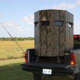 movable deer blind in truck