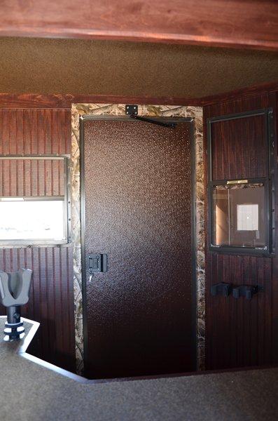 Range Bandit Shooting House Trailer Interior Door Detail