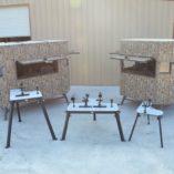 Double Range Bandit Shooting Bench With Houses