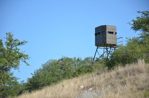 Insulated Deer Blind On Hillside