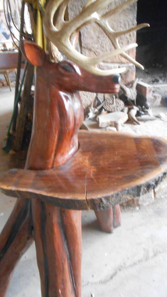 Mesquite Deer Head Chainsaw Carving North Texas Deer Blinds